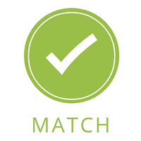 Icon showing the match part of the Tutor Doctor Process